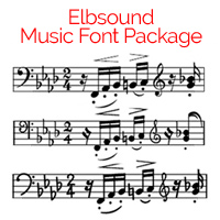 Elbsound Music Fonts Package for Finale and Sibelius