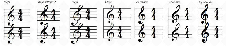 Violin Clefs for Condensed Scores